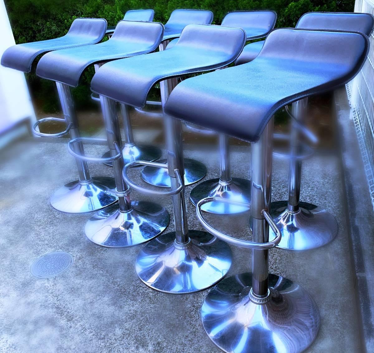 [* прекрасный товар *] счетчик стул *W400×D400×H640~850* высота настройка имеется * ограничение 8 шт.!
