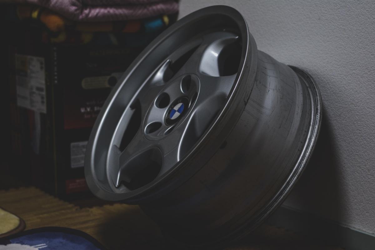 BMW E34 M5 Mテク 17インチ 4本セット ガリ傷なし 美品 Pcd120? 5H 当時物 E31 _画像2