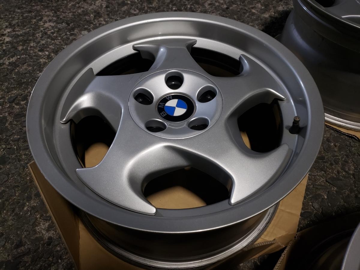 BMW E34 M5 Mテク 17インチ 4本セット ガリ傷なし 美品 Pcd120? 5H 当時物 E31 _画像7