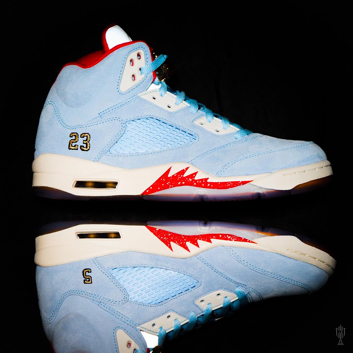 【超希少・26cm 】世界7000足限定 TROPHY ROOM × Air Jordan 5 Retro (ICE BLUE) トロフィールーム エアージョーダン 5 アイスブルー_画像9