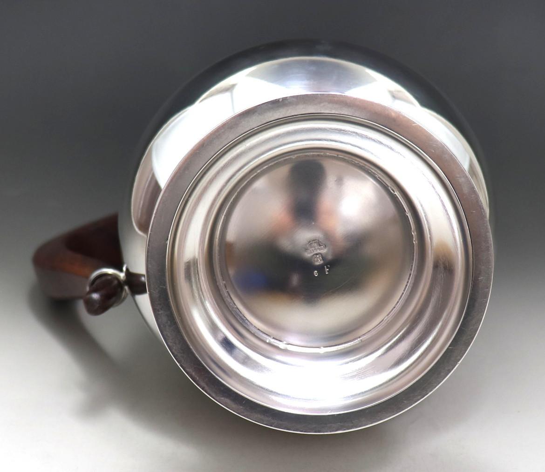 アンティーク 「Christofle」 クリストフル 木製把手 大型ポット 純銀P シルバープレート_画像8