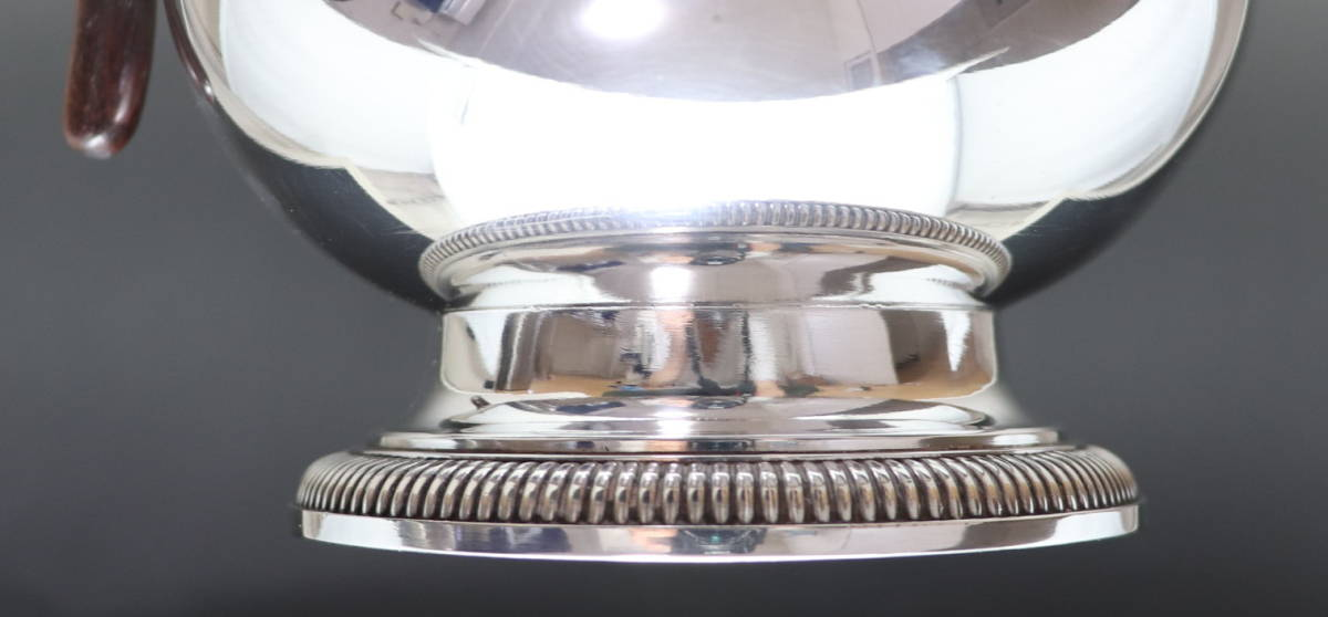 アンティーク 「Christofle」 クリストフル 木製把手 大型ポット 純銀P シルバープレート_画像7