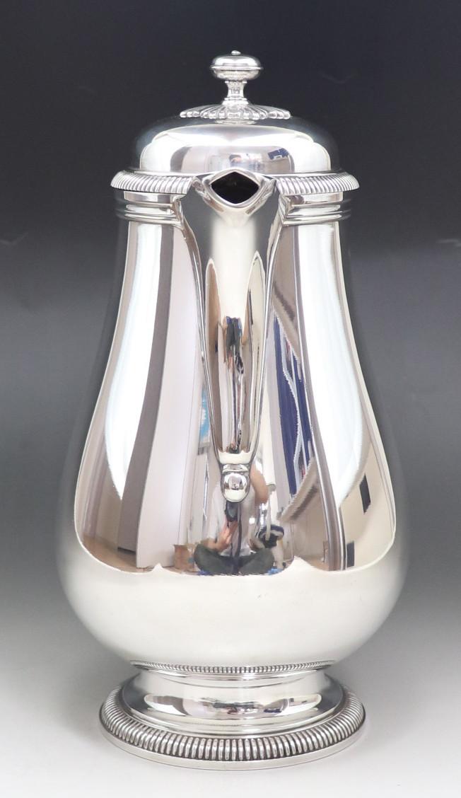 アンティーク 「Christofle」 クリストフル 木製把手 大型ポット 純銀P シルバープレート_画像4