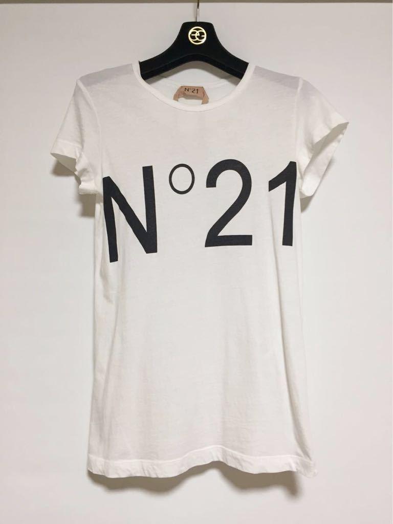 ヌメロヴェントゥーノ N°21 コットンロゴTシャツ 36
