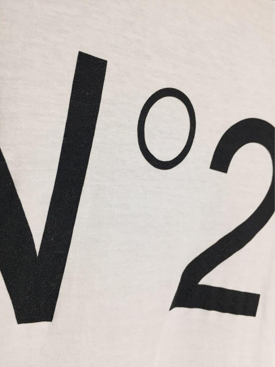 ヌメロヴェントゥーノ N°21 コットンロゴTシャツ 36 _画像2