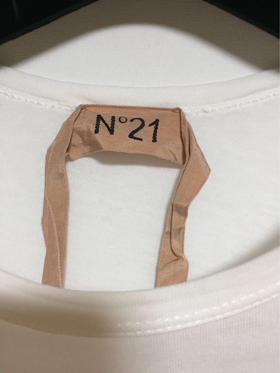 ヌメロヴェントゥーノ N°21 コットンロゴTシャツ 36 _画像4