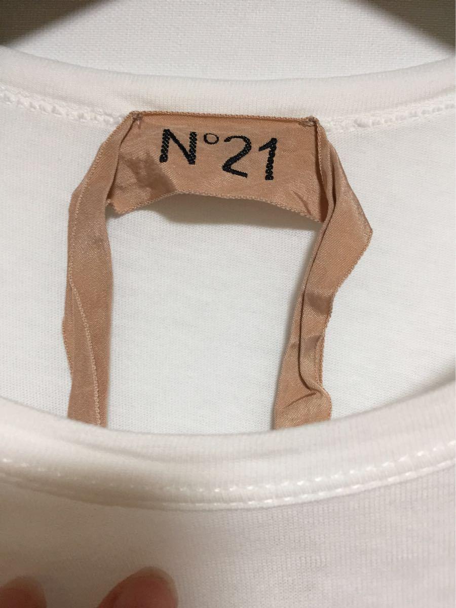 ヌメロヴェントゥーノ N°21 コットンロゴTシャツ 36 _画像3