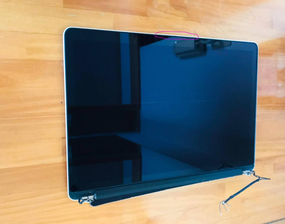 中古 Macbook Pro Retina 15インチ Mid 2012 Early 2013 A1398 液晶 画面 上半部 上半身 LCD スクリーン ディスプレイ パネル ★送料無料_画像2