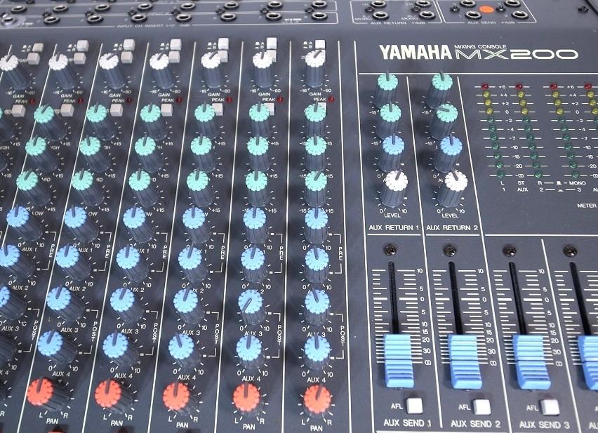 YAMAHA ヤマハ MX200-16 16CH ケース付き ミキサーケース ハードケース ミキサー 動作品_画像3