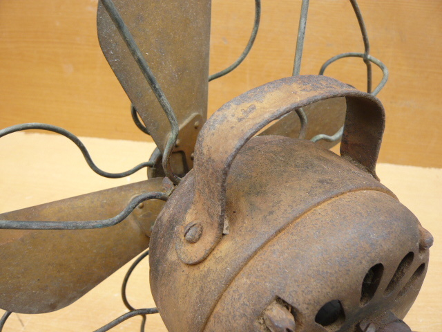 扇風機 芝浦電機 4枚羽根 鉄製 アンティ―ク_画像7