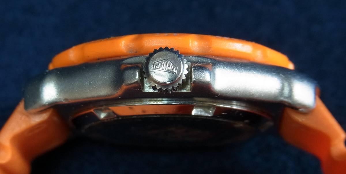 【ジャンク】タグホイヤー フォーミュラ1 オレンジ レディースサイズ クォーツ腕時計 [373.508] 動作品_画像7