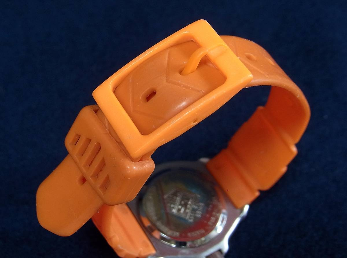【ジャンク】タグホイヤー フォーミュラ1 オレンジ レディースサイズ クォーツ腕時計 [373.508] 動作品_画像9