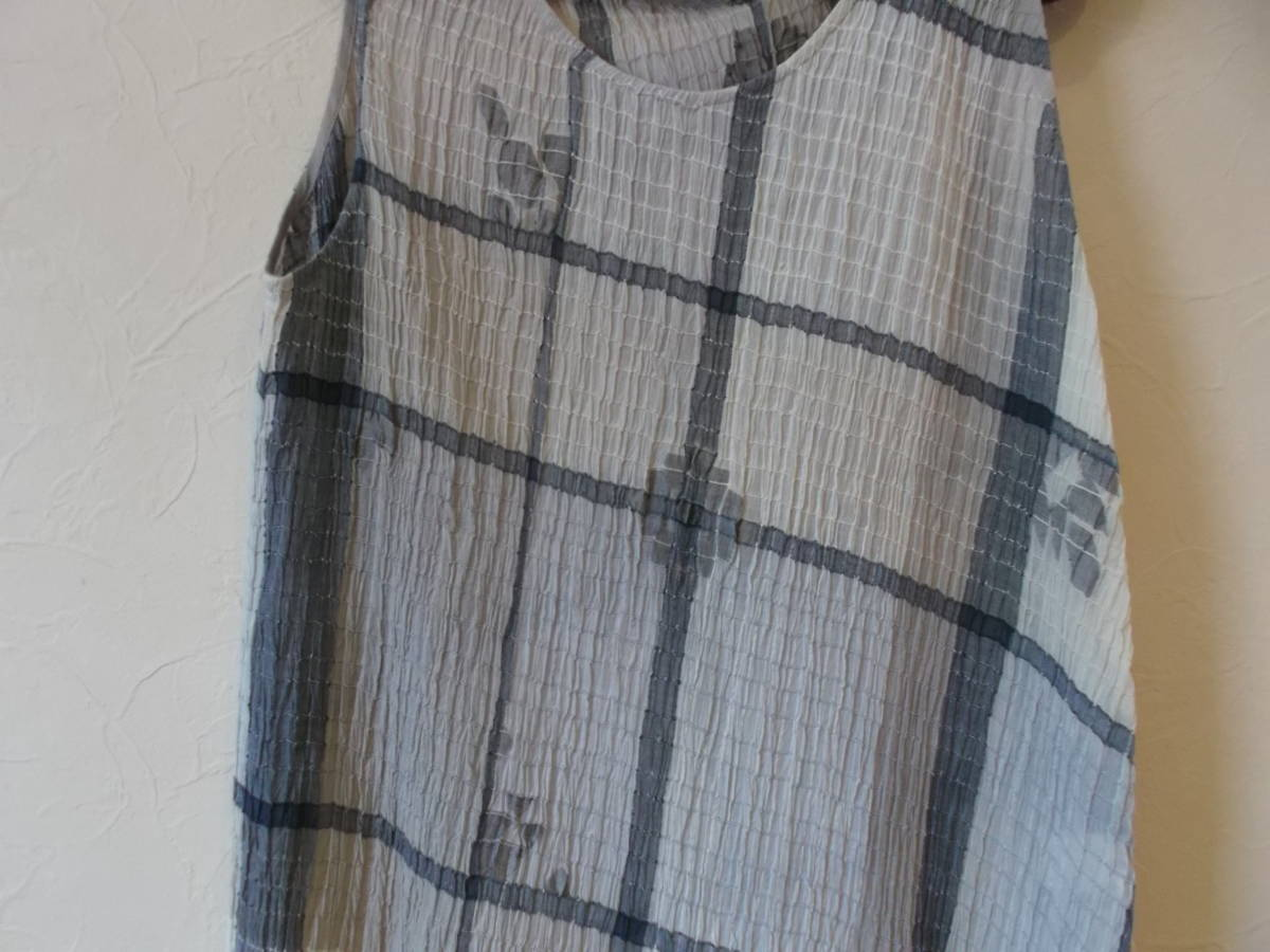 08*ヨーガンレール*綿&絹ワンピース&上着&ストール3点セット(新品)_画像2