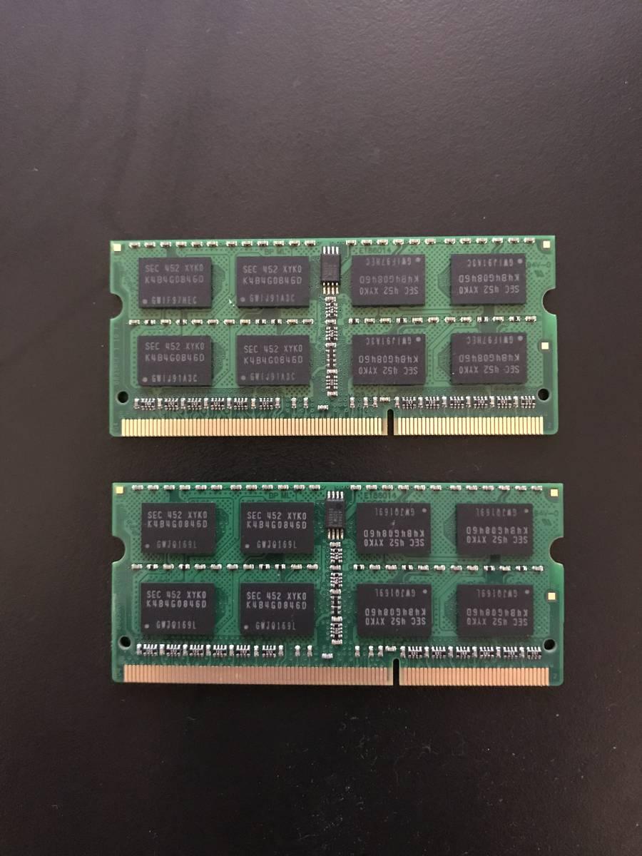 中古 Transcend ノートPC用メモリ 16GB(8GB x2)_画像2