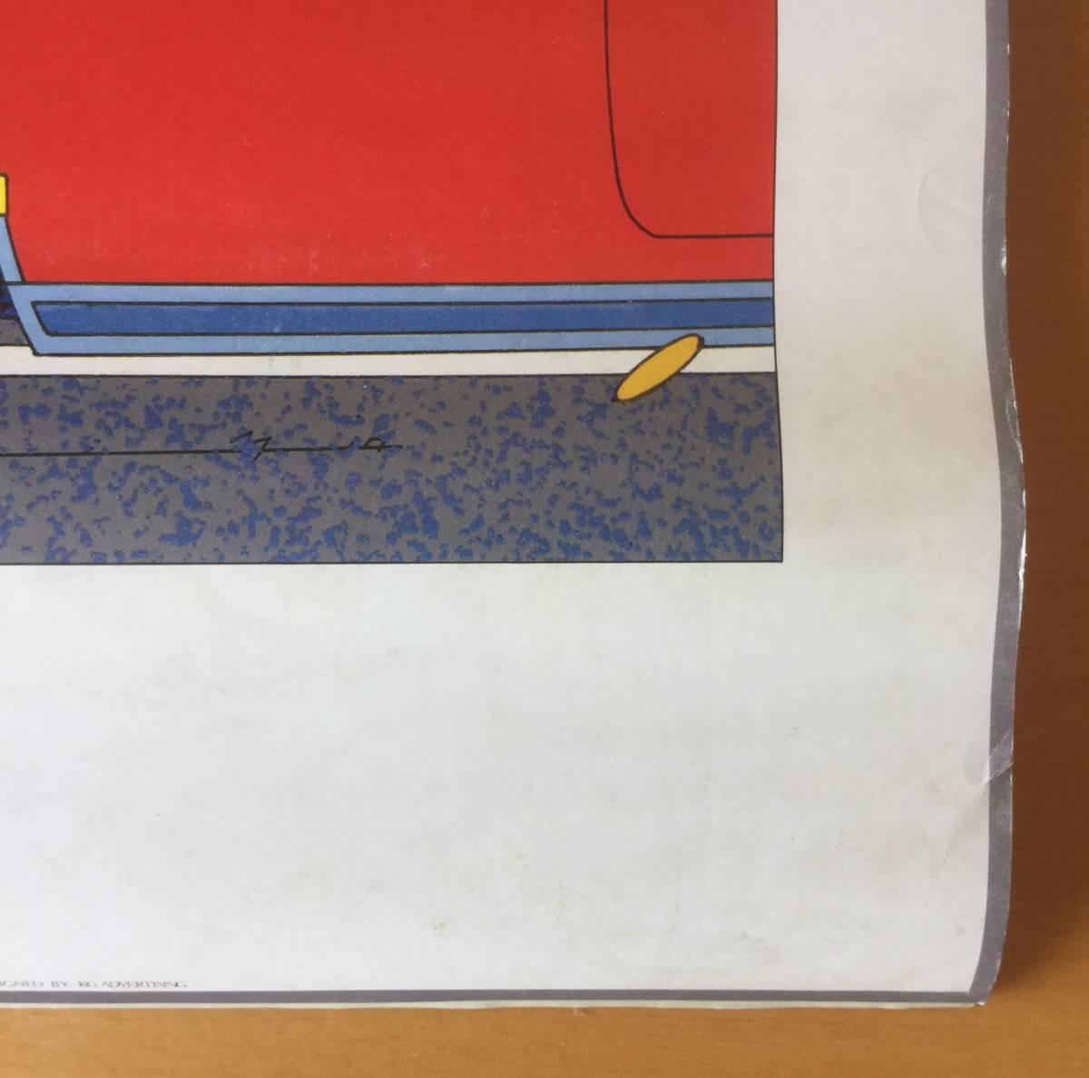 鈴木英人イラスト/1984年壁掛けカレンダー  EIZIN SUZUKI・AMERICAN DREAM SCENE_画像5