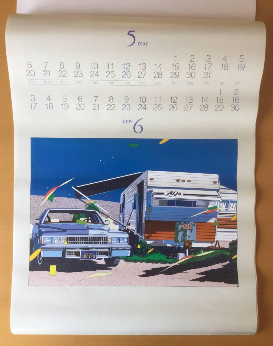 鈴木英人イラスト/1984年壁掛けカレンダー  EIZIN SUZUKI・AMERICAN DREAM SCENE_画像4