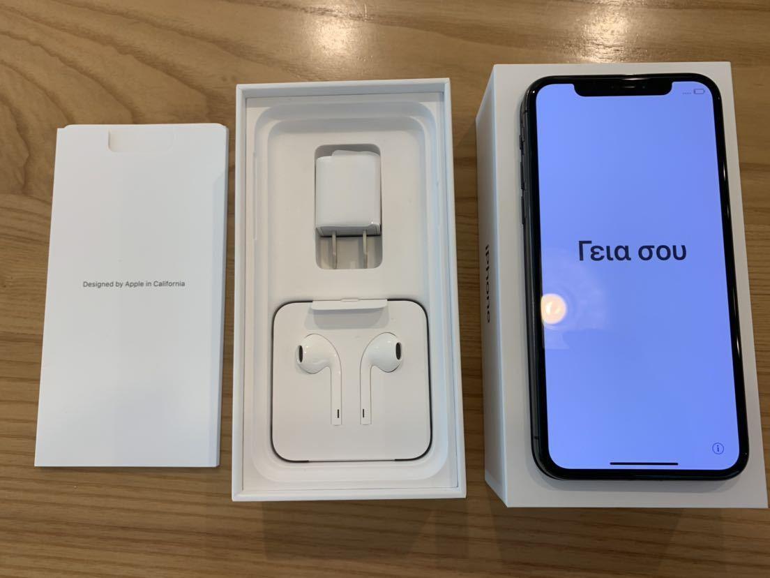 【超美品】Apple iPhoneX 256GB スペースグレー SIMロック解除済み_画像3