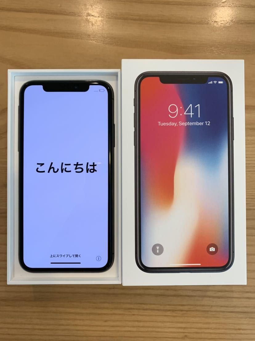 【超美品】Apple iPhoneX 256GB スペースグレー SIMロック解除済み