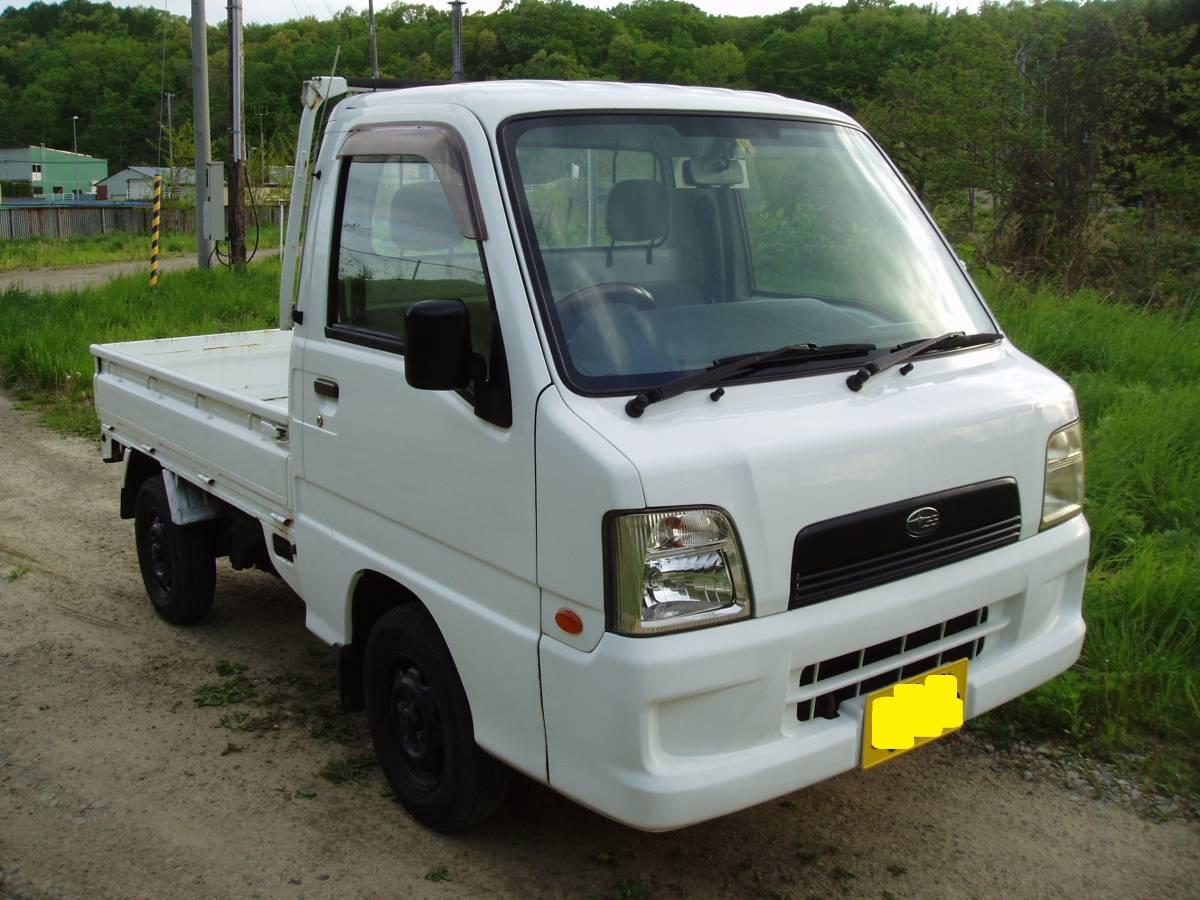 サンバートラック 低走行 4WD AT 札幌~~ 即決特典あり_画像2