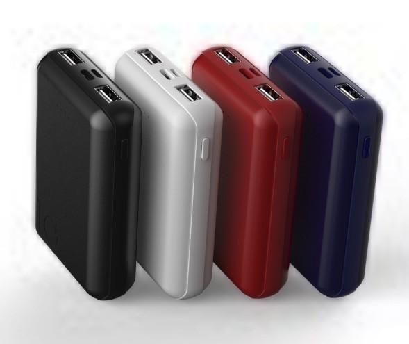 1円 超小型 軽量 10000mAh モバイルバッテリー / micro USB Type-C から充電可能 USB 2ポート 黒/白/赤/青で選ぶ_画像6