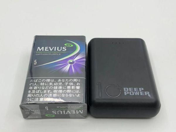 1円 超小型 軽量 10000mAh モバイルバッテリー / micro USB Type-C から充電可能 USB 2ポート 黒/白/赤/青で選ぶ_画像2