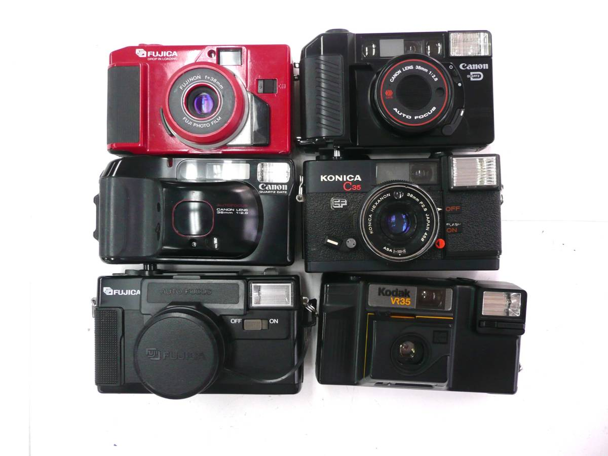 【ジャンク カメラ】 単焦点コンパクトカメラ Konica RICOH MINOLTA など計30台セット (J902M) 同梱発送不可_画像7