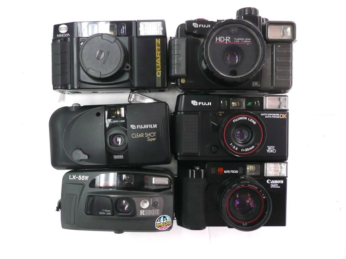 【ジャンク カメラ】 単焦点コンパクトカメラ Konica RICOH MINOLTA など計30台セット (J902M) 同梱発送不可_画像5
