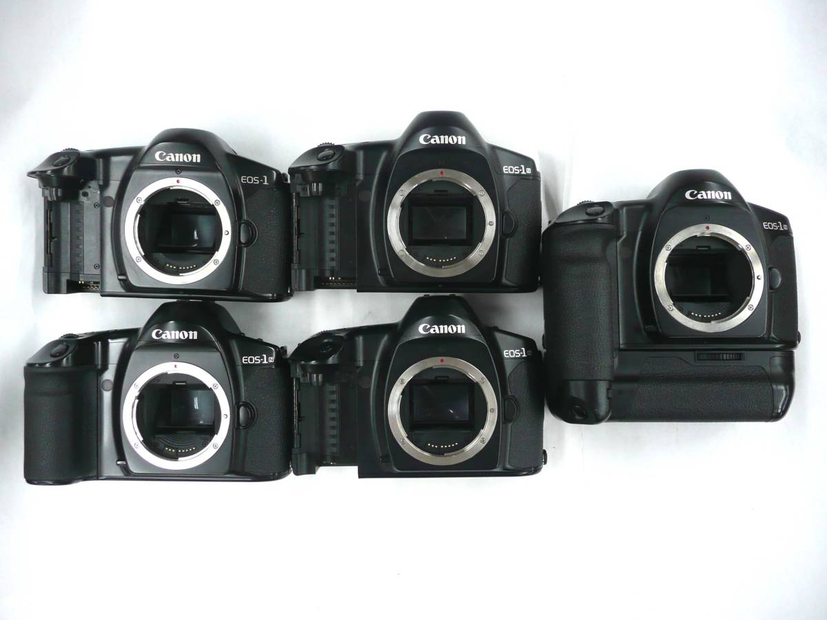 【ジャンク カメラ】 Canon EOS-1/1-N ボディ 計5台セット キヤノン (J920M) 同梱発送不可