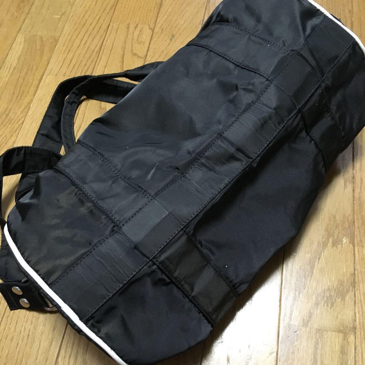 APC アーペーセー ロゴ ボストンバック ナイロン 旅行かばん ブラック 黒 3way ショルダーバッグ_画像4