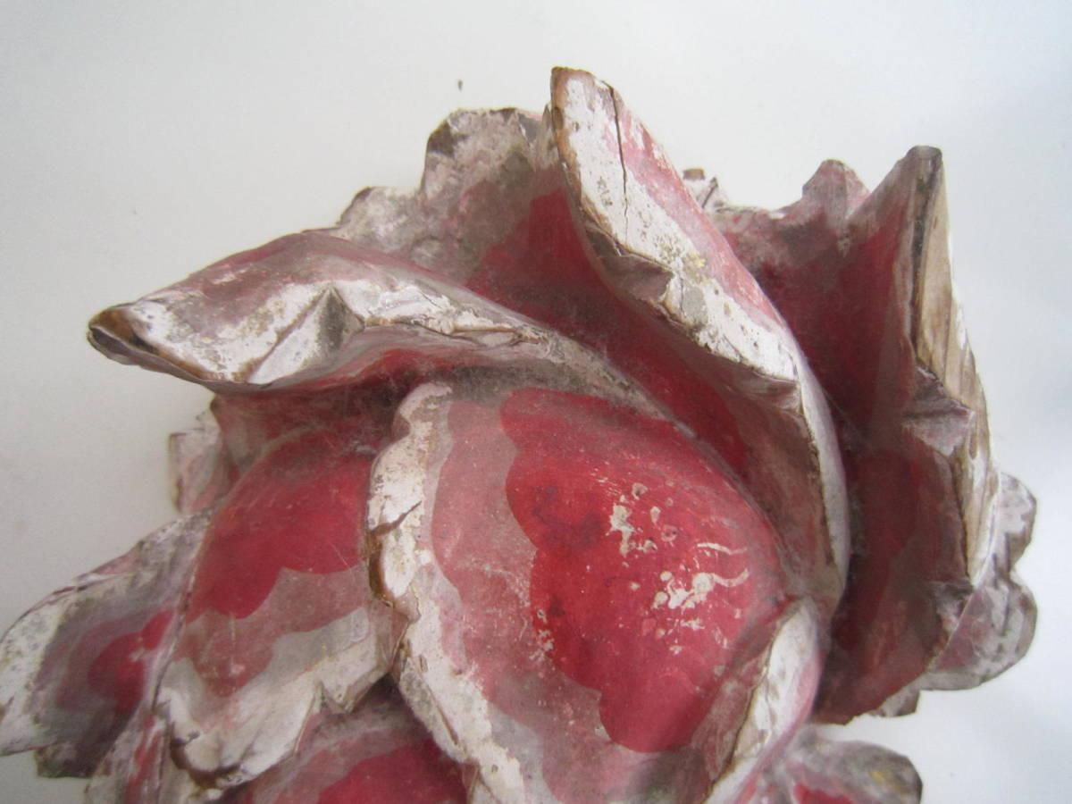 tg0091★木製「花」仏教美術_画像7