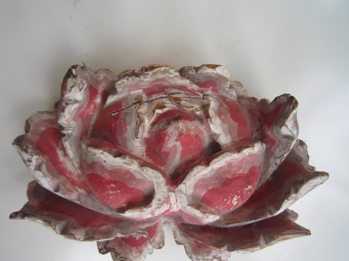 tg0091★木製「花」仏教美術_画像6