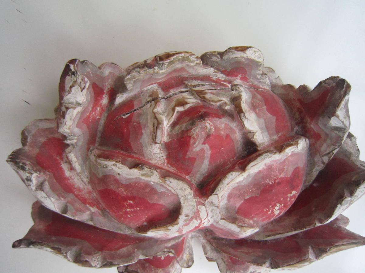 tg0091★木製「花」仏教美術_画像3