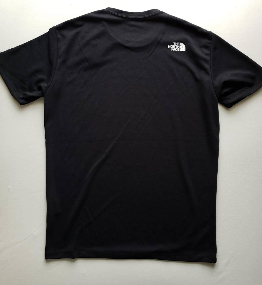 新品 国内正規品 ザ ノース フェイス THE NORTH FACE メンズ トレッキング 半袖Tシャツ SQUARE LOGO TEE ブラック  Lサイズ_画像3