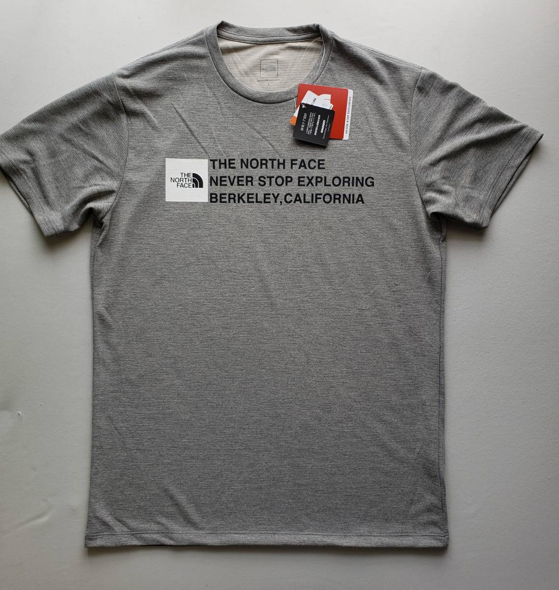新品 国内正規品 ザ ノース フェイス THE NORTH FACE メンズ トレッキング 半袖Tシャツ SQUARE LOGO TEE ミックスグレー Mサイズ