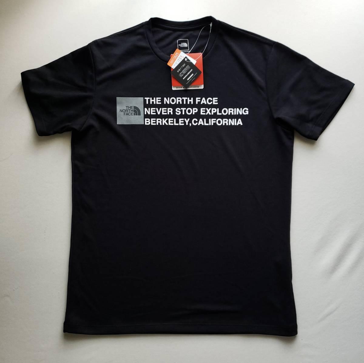 新品 国内正規品 ザ ノース フェイス THE NORTH FACE メンズ トレッキング 半袖Tシャツ SQUARE LOGO TEE ブラック  Lサイズ