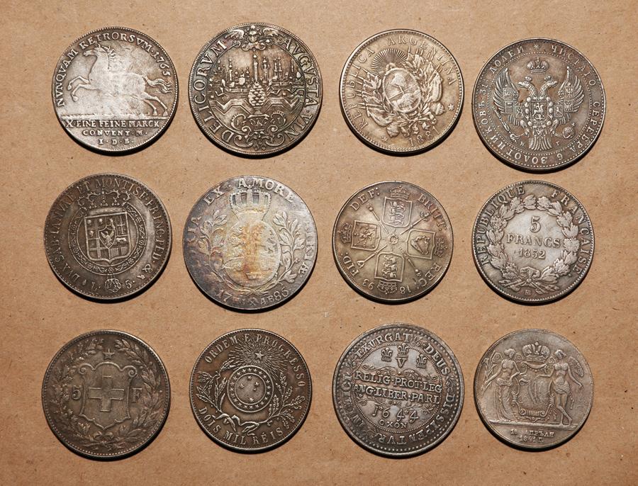 外国硬貨まとめて フランス.イギリス.12枚 希少硬貨 277.6g_画像2