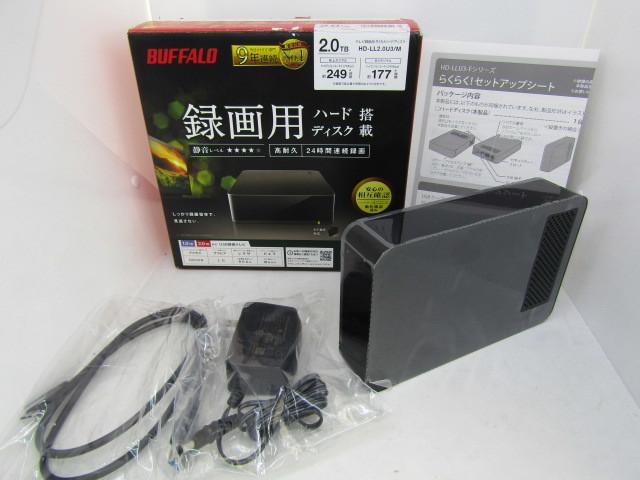 BUFFALO 外付けハードディスク 2TB テレビ録画用HDD採用 HD-LL2.0U3/M