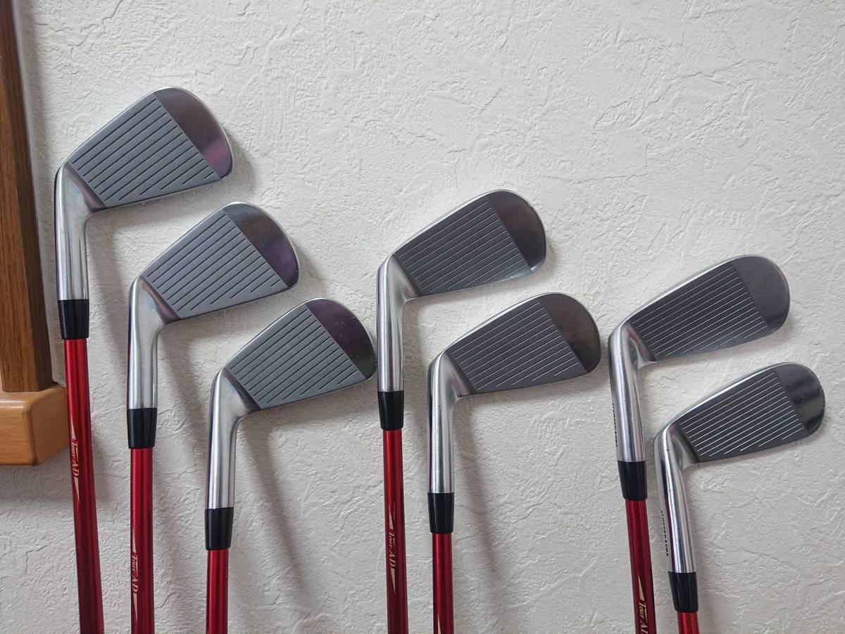 スクラッチゴルフ SB1 FORGED 4-P 7本 ツアーAD 95X ロマロ 52ウェッジ付き 新溝_画像3