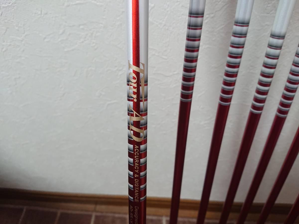 スクラッチゴルフ SB1 FORGED 4-P 7本 ツアーAD 95X ロマロ 52ウェッジ付き 新溝_画像6