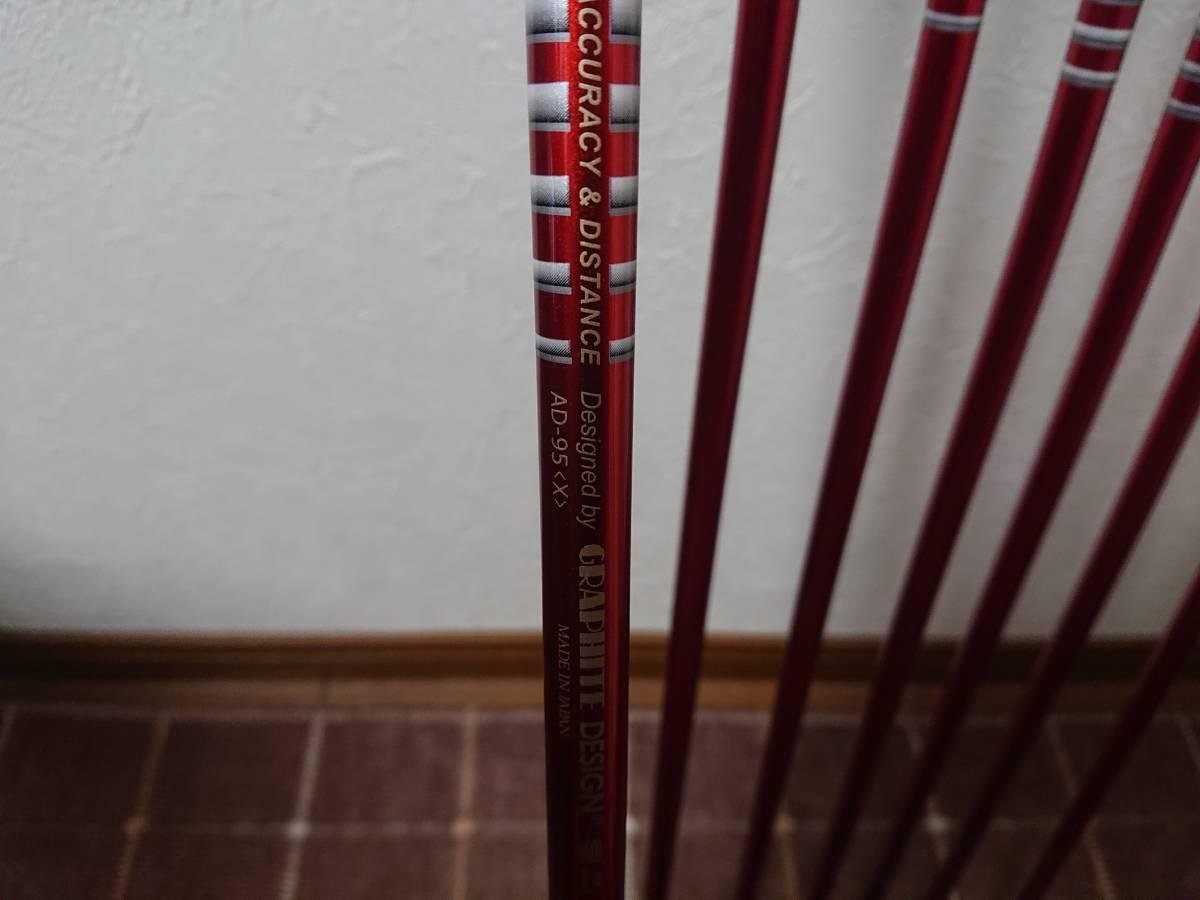 スクラッチゴルフ SB1 FORGED 4-P 7本 ツアーAD 95X ロマロ 52ウェッジ付き 新溝_画像7