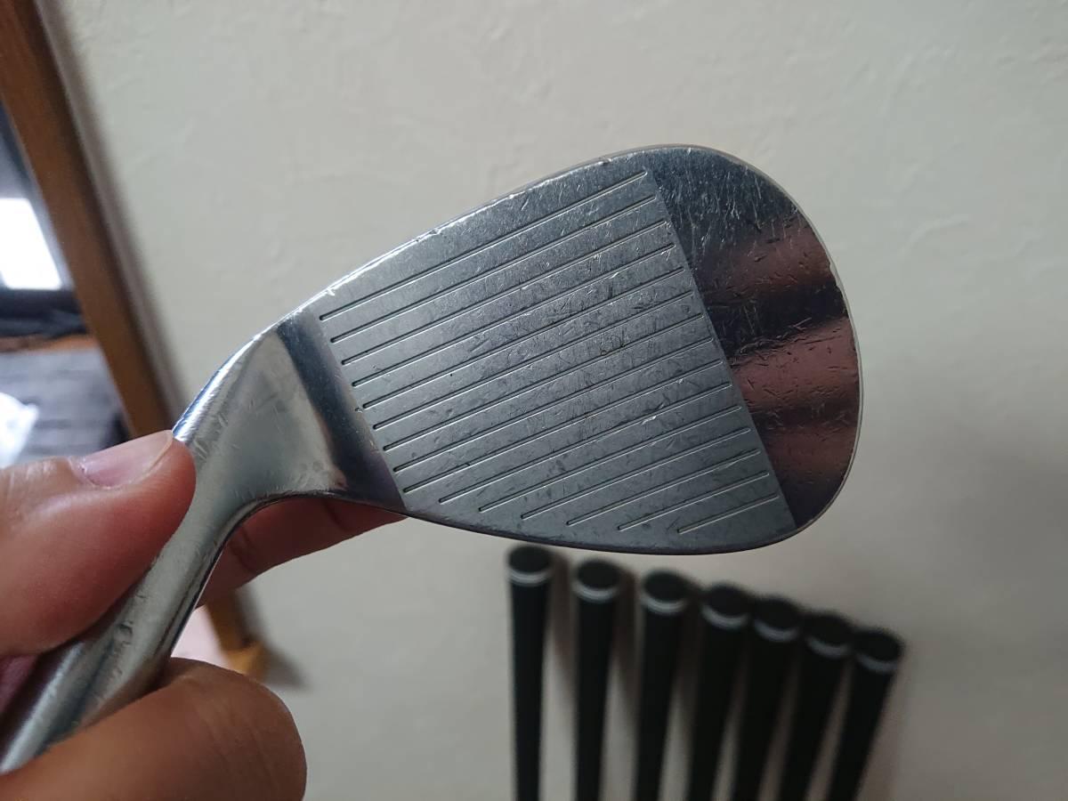 スクラッチゴルフ SB1 FORGED 4-P 7本 ツアーAD 95X ロマロ 52ウェッジ付き 新溝_画像9