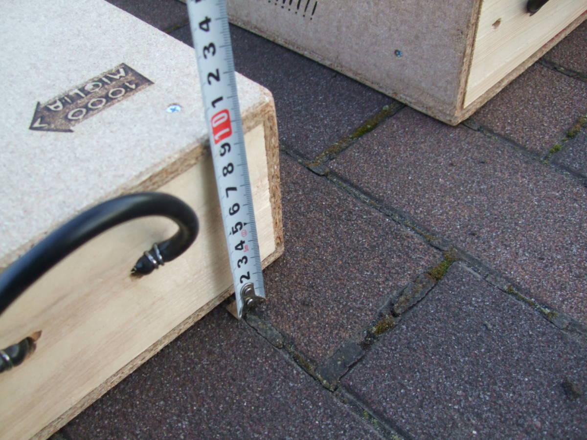 【整理処分全国送料無料】【自作手作り品】Y 木製スロープ かさ上げ高さ98ミリ 幅210 FIATオーナー様 カースロープ ピニンマレリ_画像3