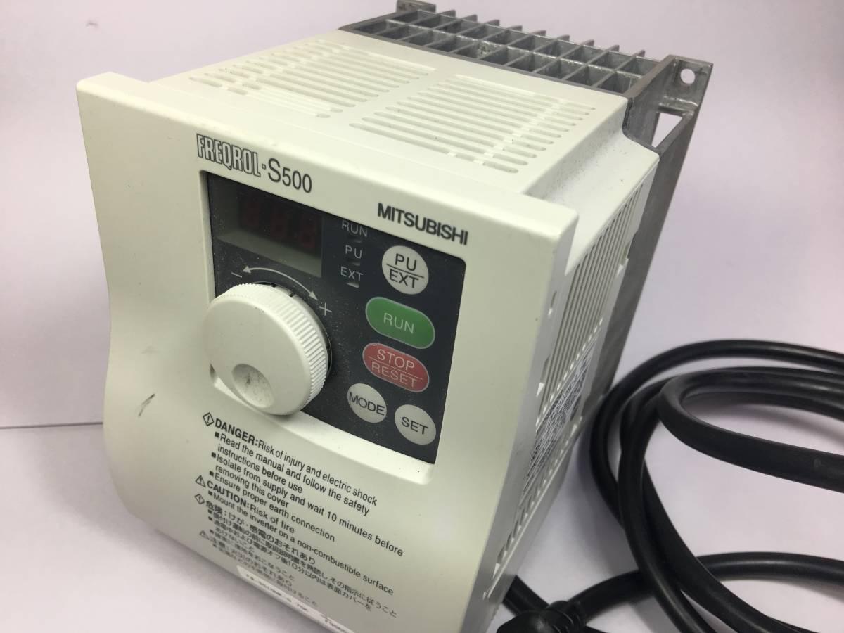 三菱 インバーター FR-S510WE-0.75K 家庭電源で3相200V機械使えます。_画像5