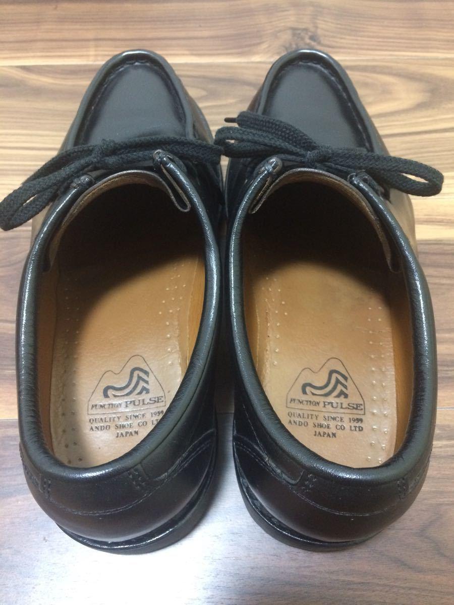 安藤製靴 OR1 チロリアンシューズ ブラック 28cm _画像2