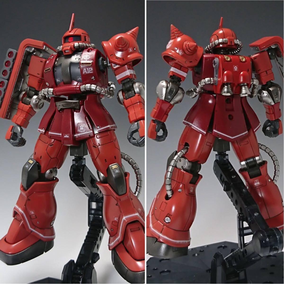 【塗装完成品】HG ザクⅡ赤い彗星Ver._画像2
