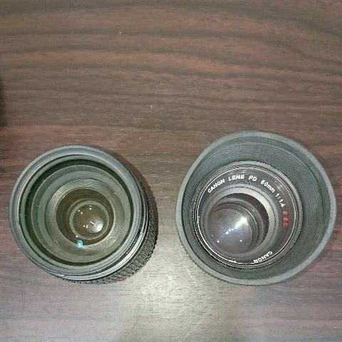 ☆Canon キヤノン A-1 FD50mm F1.4 S.S.C MF一眼レフカメラ 標準レンズ /100mm1:2.8 S.S.C/FD 35-105mm 1:3.5-4.5/レンズ3点付き訳あり_画像7