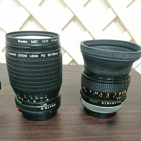 ☆Canon キヤノン A-1 FD50mm F1.4 S.S.C MF一眼レフカメラ 標準レンズ /100mm1:2.8 S.S.C/FD 35-105mm 1:3.5-4.5/レンズ3点付き訳あり_画像6
