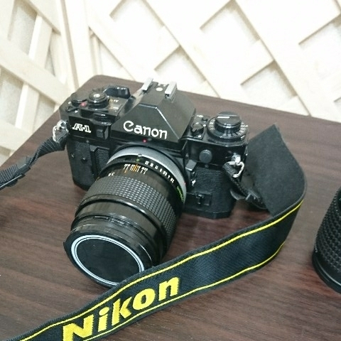 ☆Canon キヤノン A-1 FD50mm F1.4 S.S.C MF一眼レフカメラ 標準レンズ /100mm1:2.8 S.S.C/FD 35-105mm 1:3.5-4.5/レンズ3点付き訳あり_画像8