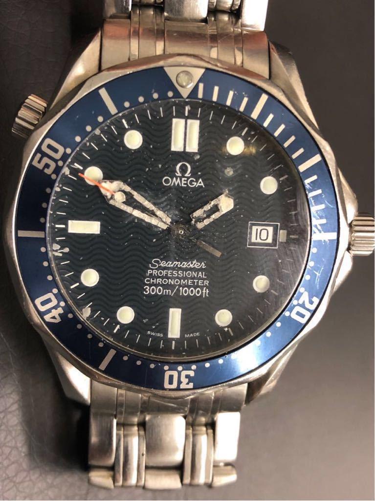 訳あり OMEGA オメガ Seamaster Professional chronometer 300m シーマスター プロフェッショナル クロノメーター 自動巻 メンズ