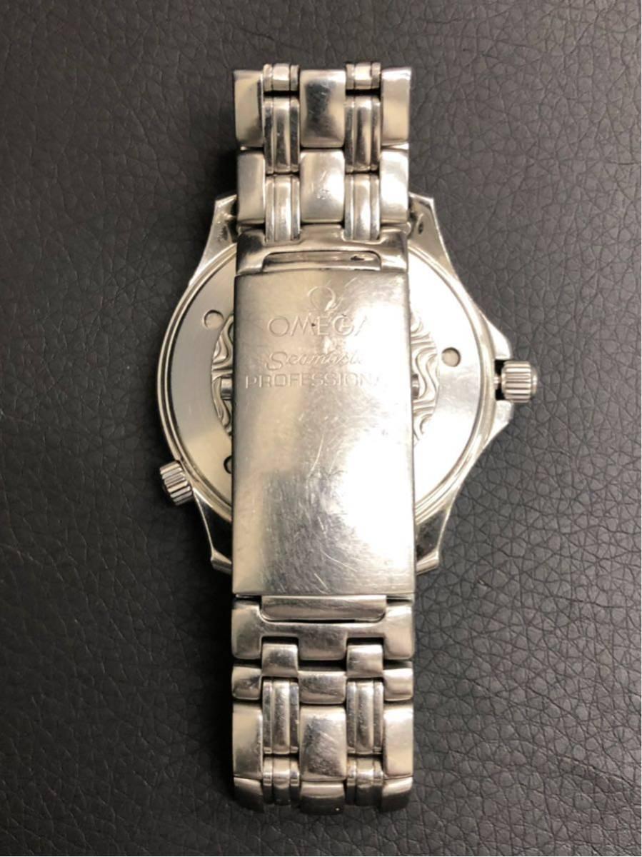 訳あり OMEGA オメガ Seamaster Professional chronometer 300m シーマスター プロフェッショナル クロノメーター 自動巻 メンズ _画像5